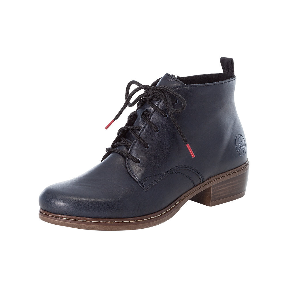 Rieker Y0843-14 Low Block Heel Ankle Boot Navy
