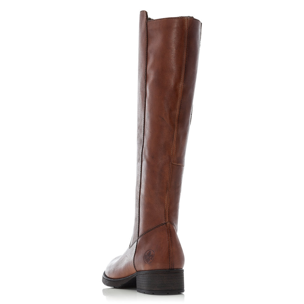 Rieker Z9590-25 Long Leather Boot Brown