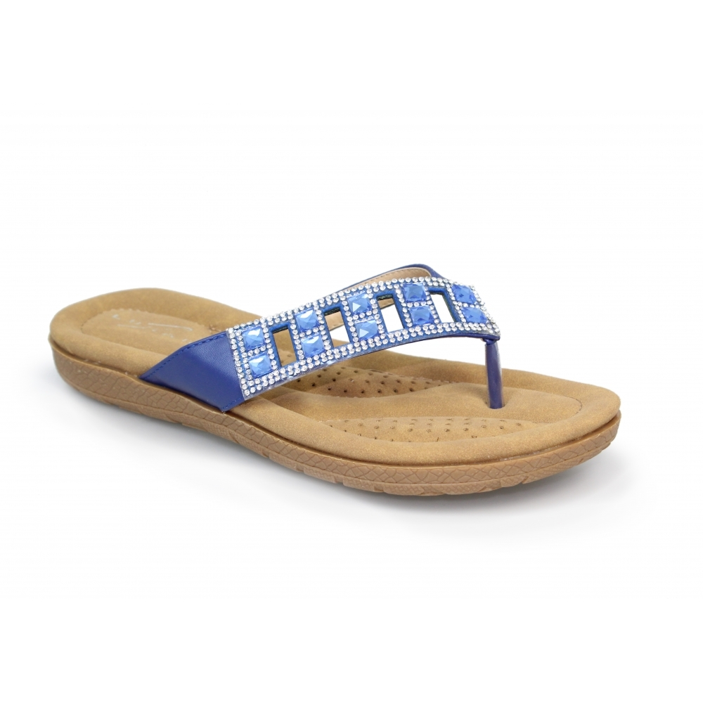 Lunar Ariel Toe Post Sandal JLH985 Blue