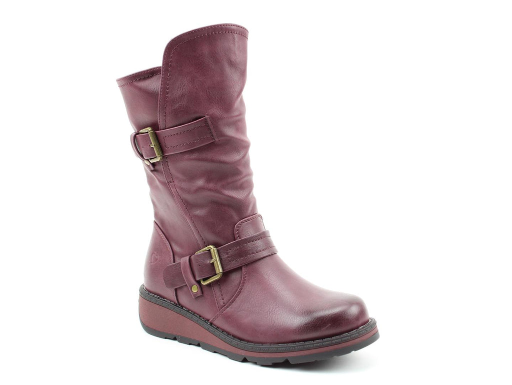 Heavenly Feet Hannah Mid Height Boot New Berry