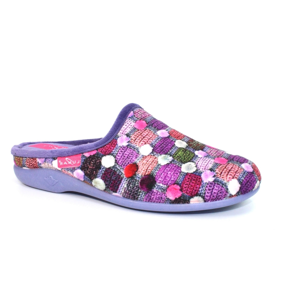Lunar Crackle Mule Slipper Purple Or Blue