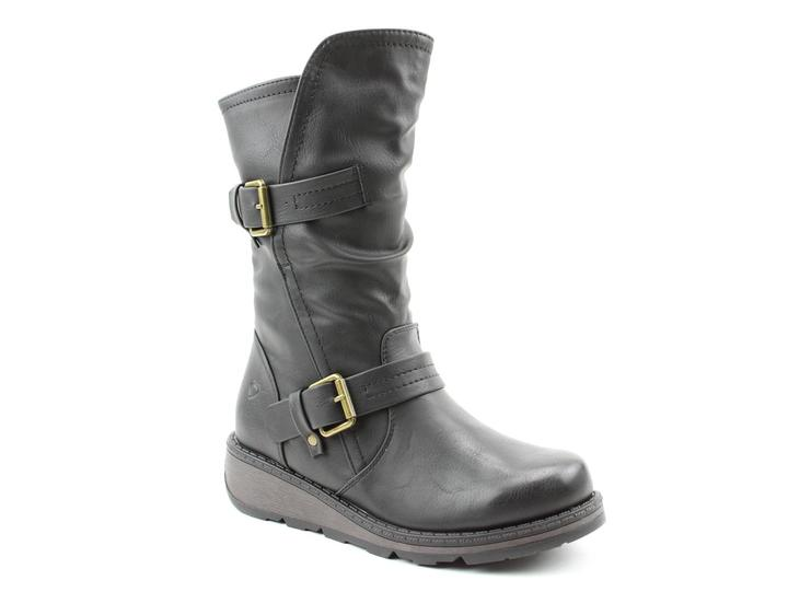 Heavenly Feet Hannah Mid Height Boot Black