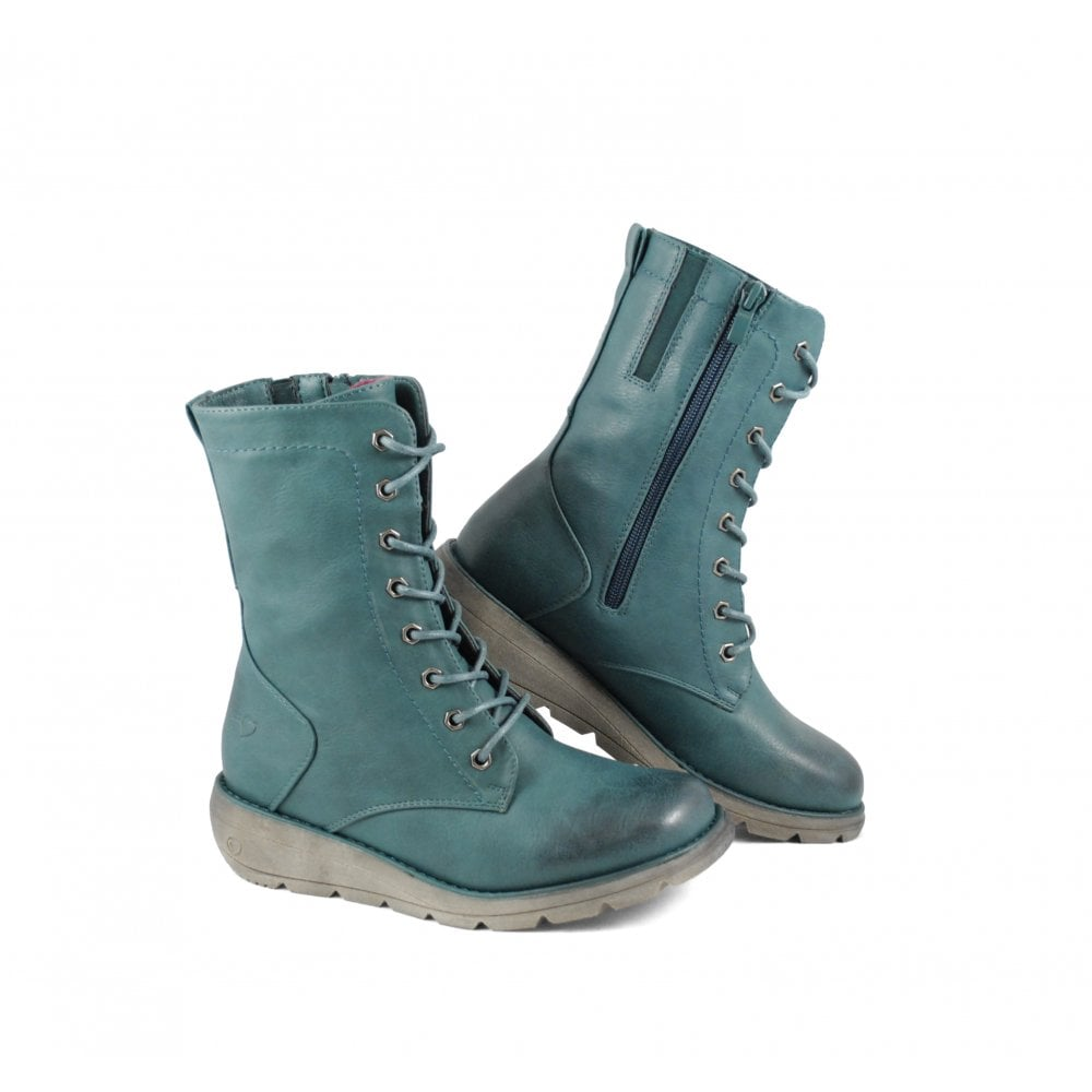 Heavenly Feet Martina2 Womens Mid Calf Boot New Ocean