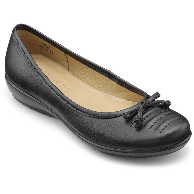 Hotter Emmy Ladies Slip On Pump Black Standard Fit