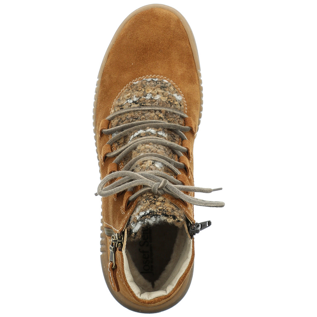 Josef Seibel Maren 15 Zip And Lace Up Boot Camel Combi
