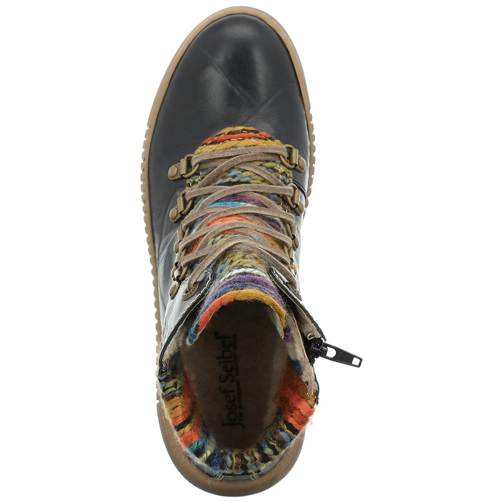 Josef Seibel Maren 06 Zip And Lace Up Boot Ocean Multi