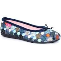 Lunar Magic KLA095 Blue Spotty Pump Slipper