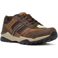 Skechers 66015 Henrick-Delwood Trainer Shoe Brown