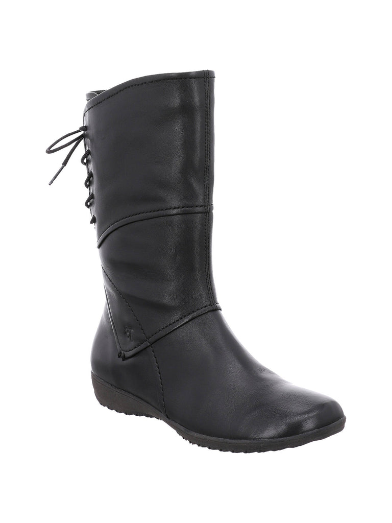 Josef Seibel Naly 07 Ladies Lace Back Boot Black