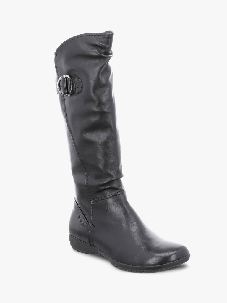 Josef Seibel Naly 23 Long Leather Boot Black