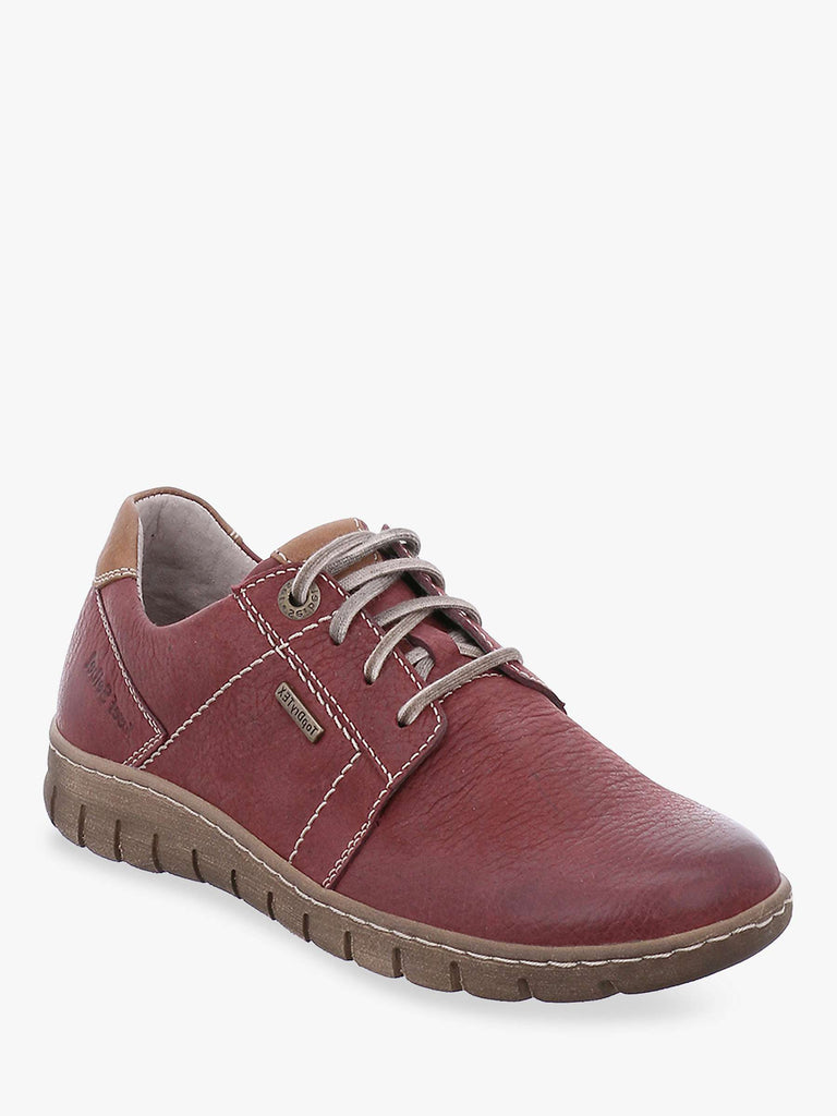 Josef Seibel Steffi 59 Ladies Lace Up Shoe Bordo