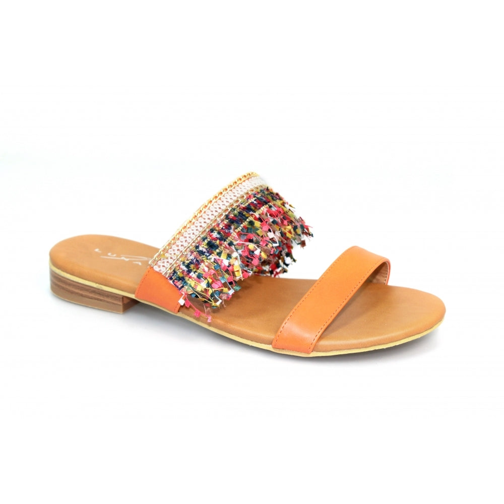 Lunar Carter Mule Sandal JLH025 Orange