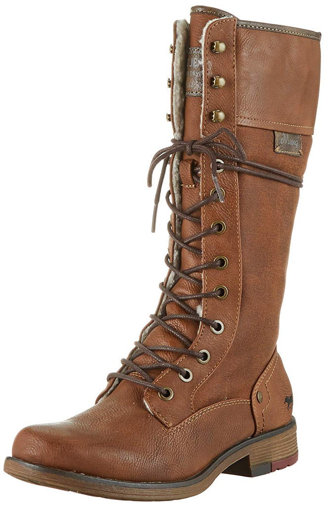 Mustang Long Lace Up Boot 1295-606-301 Brown