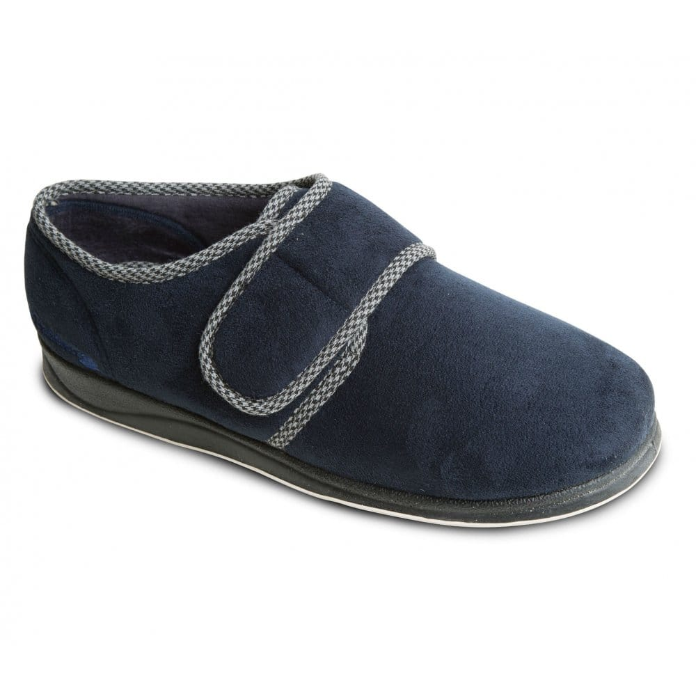 Men's Padders Harry Velcro Slipper Navy