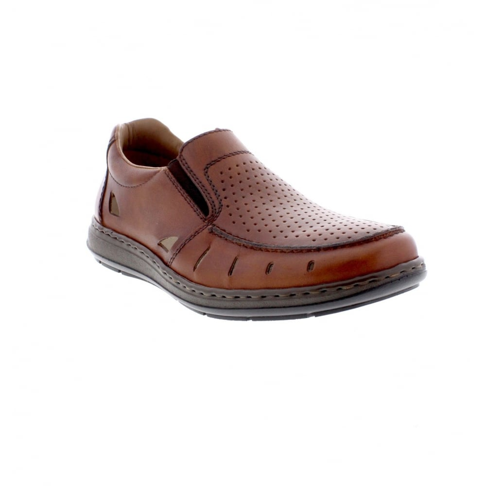 Rieker 17355-24 Mens Summer Slip On Shoe Tan