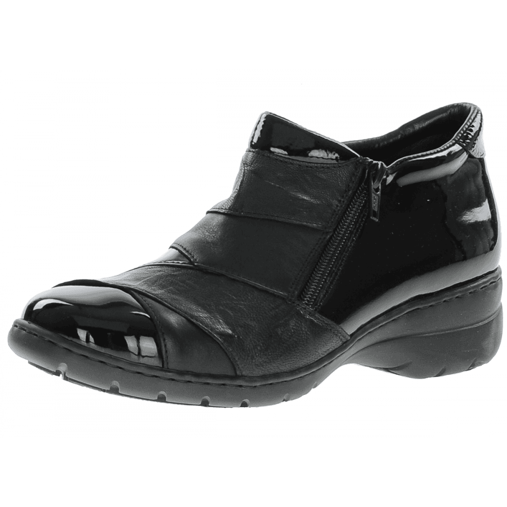 Rieker L4373-00 Twin Zip Boot Black