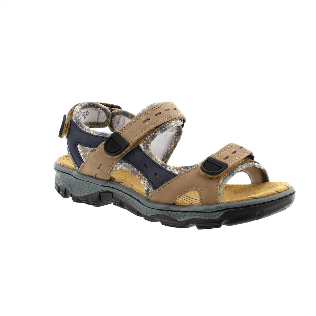 Rieker 68872-25 Clara Trail Sandal Brown