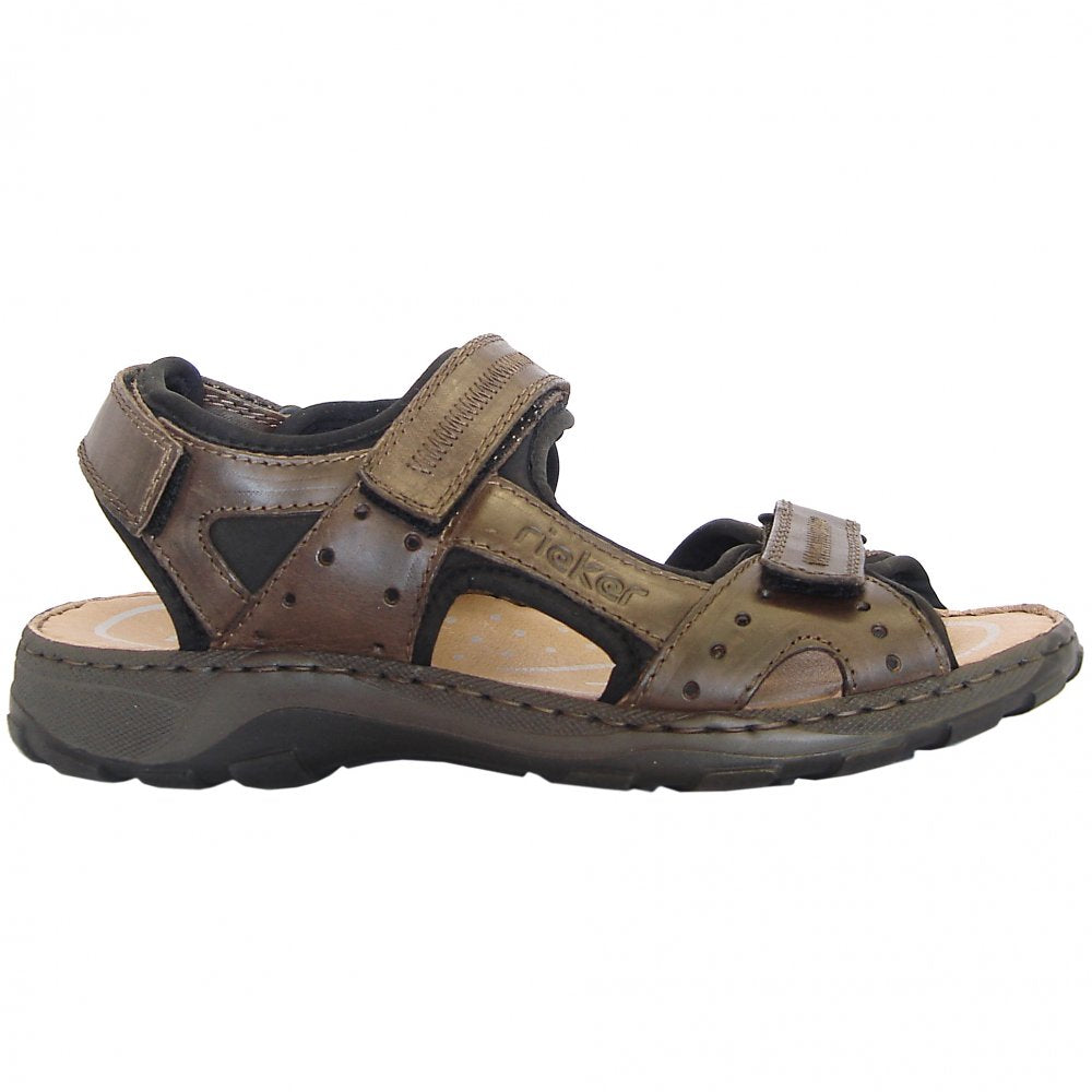 Rieker Men's Trail Sandal 26061-25 Nougat Brown