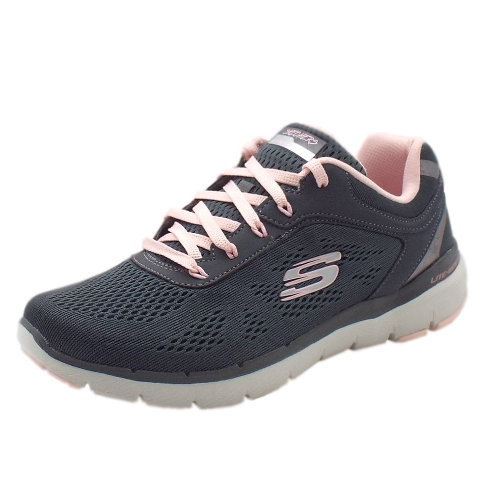 Skechers 13059 Flex Appeal Moving Fast Charcoal/Pink
