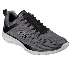 Skechers 52927 Lace-Up Trainer Charcoal & Black