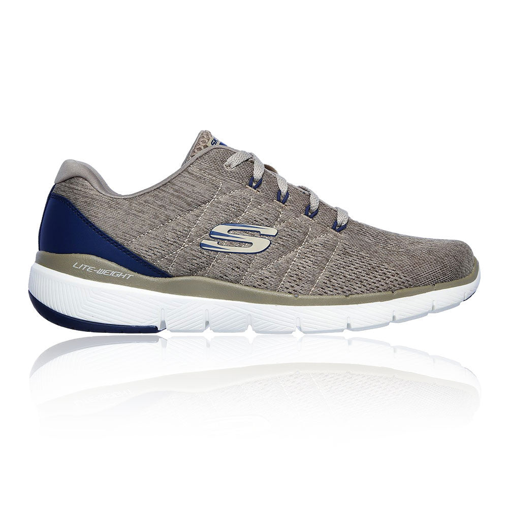 Skechers 52957 Flex Advantage 3.0 Stally Trainer Choice Black Or Beige
