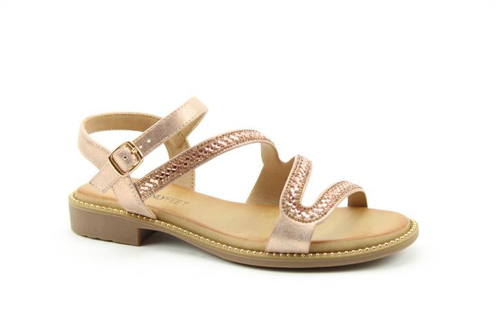Heavenly Feet Flamingo Sandal Rose Gold