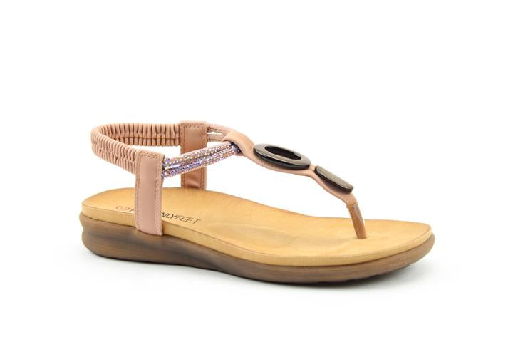 Heavenly Feet Honeydew Sandal Pink