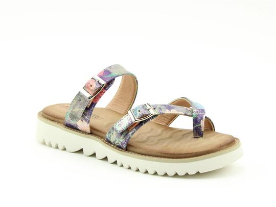 Heavenly Feet Sunset Toe Loop Mule Sandal Purple
