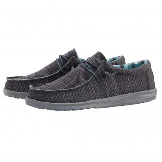 Hey Dude Shoe Wally Sox Charcoal