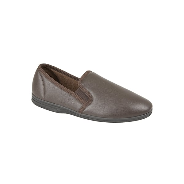 Mens MS499 Zedzzz Ivor Brown Slipper