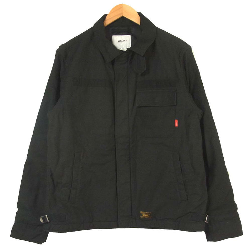 WTAPS ダブルタップス 172WVDT-JKM01 A-1 JACKET CONY SATIN ブラック系 2【中古】