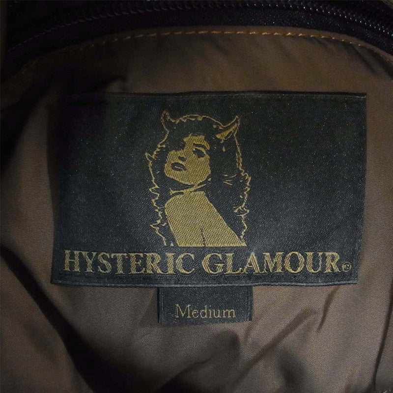 HYSTERIC GLAMOUR ヒステリックグラマー 20AW 02203AV01 ×Rocky Mountain Featherbed ロッキーマウンテン ランチ ダウンベスト ブラウン系 M【新古品】【未使用】【中古】