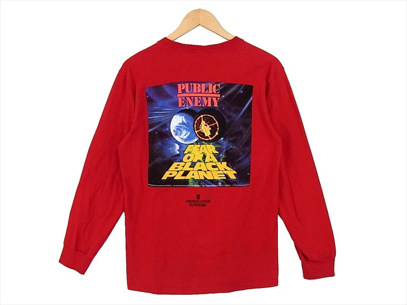 Supreme シュプリーム UNDER COVER アンダーカバー 18SS Public Enemy Counterattack L/S Tee カットソー レッド系  レッド系 S【中古】