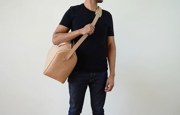 Natural Leather Duffle Bag