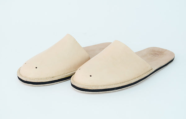 Natural Leather Slippers