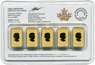 Gold Canadian Legal Tender Bars 5-pc Set 0.5-oz Our Choice Generic Brand