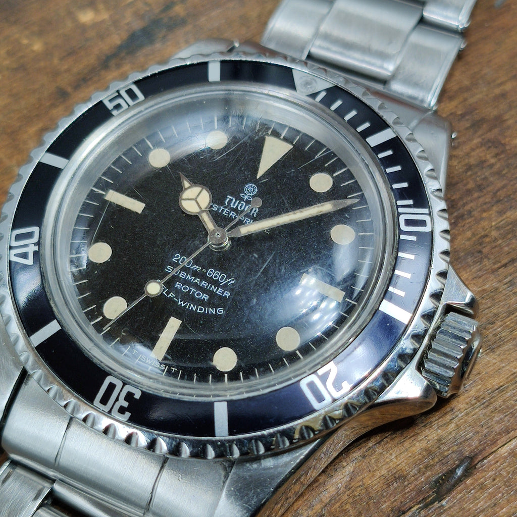 1968 Tudor Rolex Sybmariner 7016/0 with his Original Rolex Rivet Band