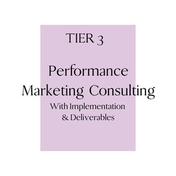 Tier 3: Performance Marketing Consulting