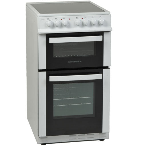 NORDMENDE 50CM FREESTANDING COOKER CTEC51WH 3 YEARS PARTS AND LABOUR