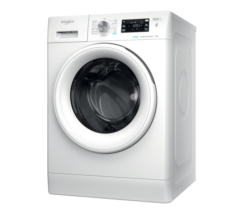 Whirlpool freestanding front loading washing machine: 9kg - FFB 9448 WV UK