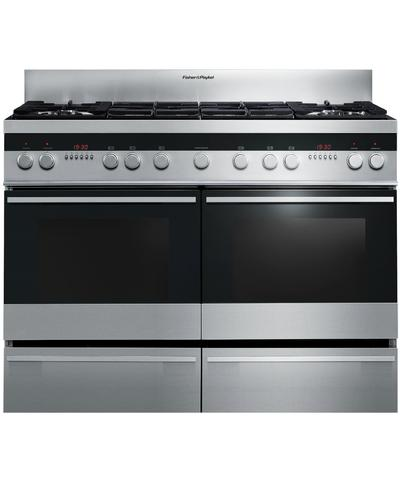 FISHER & PAYKEL  OR120DDWGX2 120cm Dual Fuel Range Cooker -S/Steel