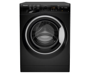 Hotpoint NSWM843CBSUK 8Kg Washing Machine - Black FULL LOAD IN 45 MINS