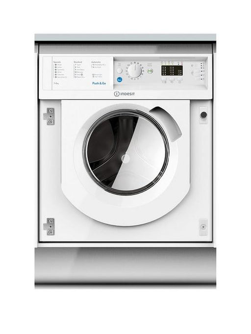INDESIT 7KG/5KG 1200 SPIN INTEGRATED WASHER DRYER - WHITE | BIWDIL7125
