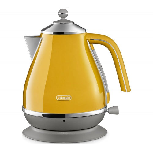 Delonghi KBOC3001.Y Icona Capitals 1.7L Jug Kettle in Yellow Model - KBOC3001.Y