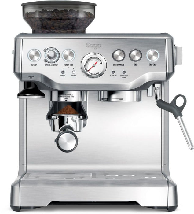 Sage the Barista Express Espresso Coffee Maker, Silver BES875BSS