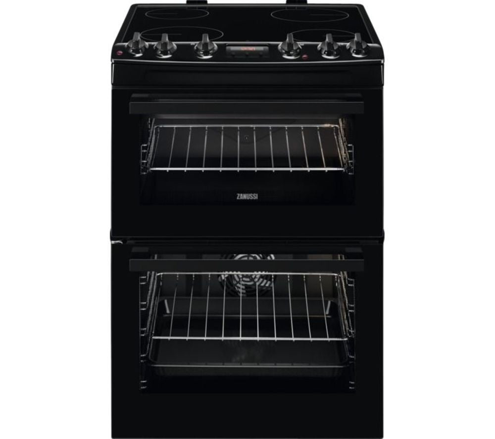ZANUSSI ZCV66250BA 60 cm Electric Ceramic Cooker - Black