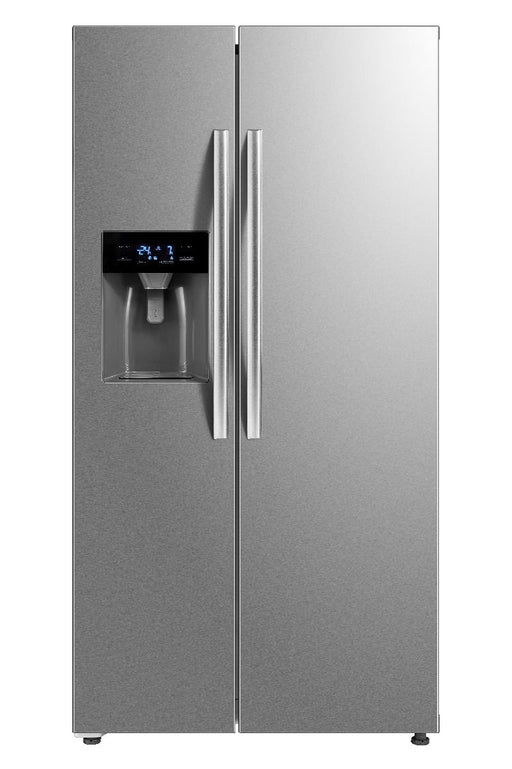 Belling BAFF493SS, 338/155L, American Syle Fridge Freezer W/ Water & Ice Dispenser Non Plumbed