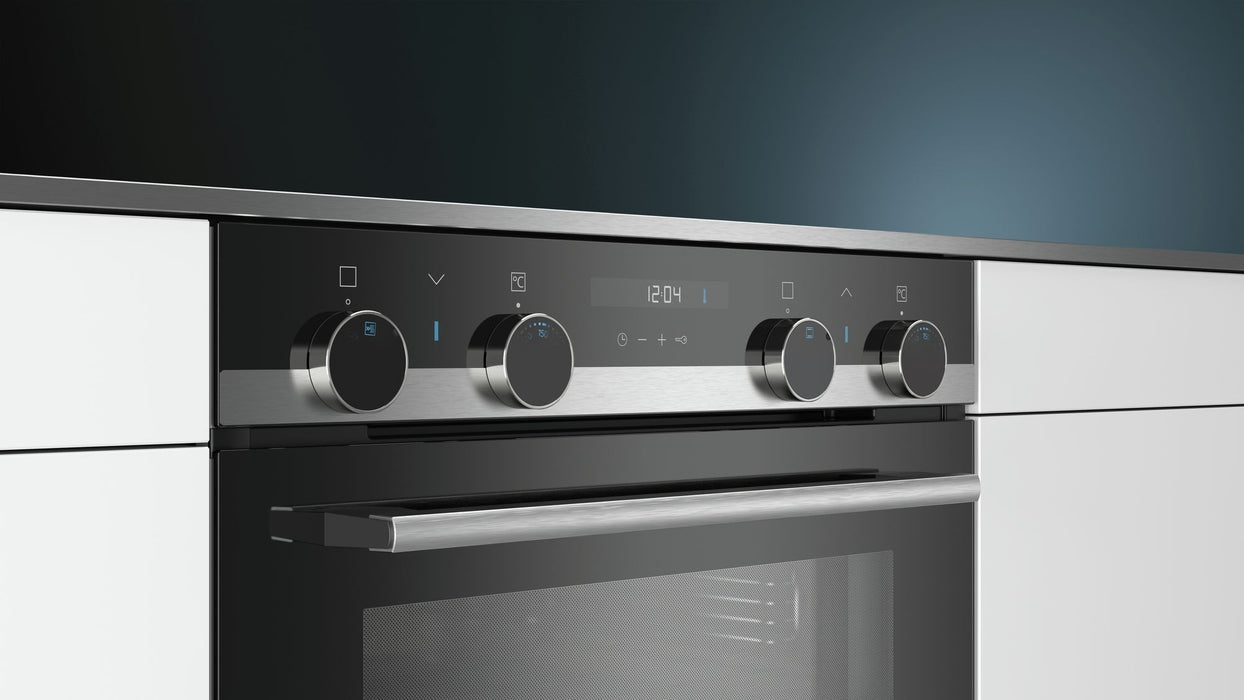 Siemens iQ500 NB557ABS0B Built-Under Double Multi-Function Oven,