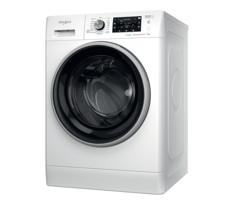 Whirlpool freestanding front loading washing machine: 9kg - FFD 9448 BSV UK