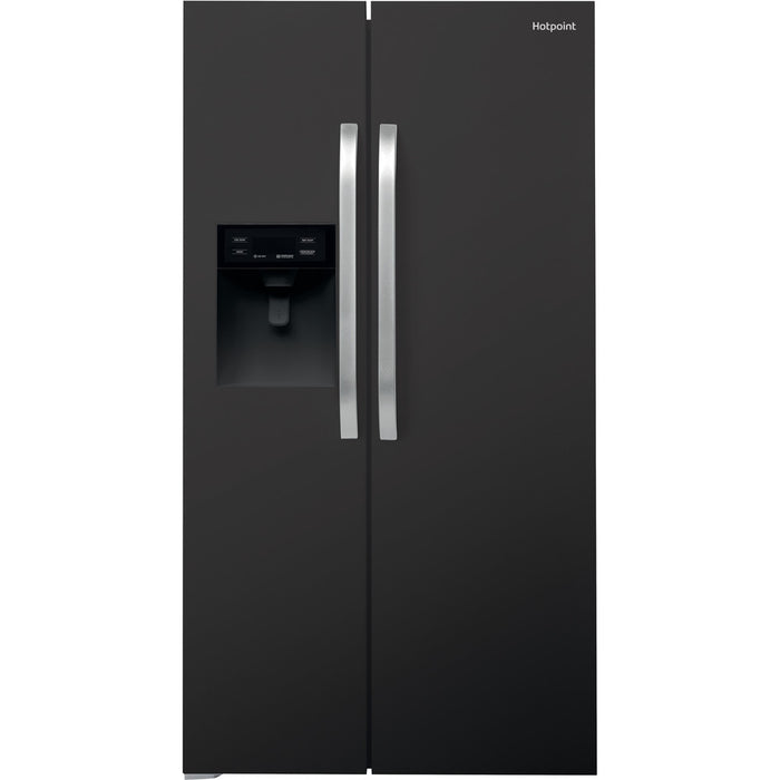 Hotpoint SXBHE925WD Side-by-Side Black American Fridge Freezer